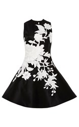 Naeem Khan Sleeveless A Line Dress Black White