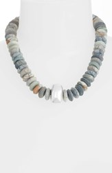 Simon Sebbag Picasso Matte Jasper And Sterling Silver Beaded Necklace Stone Silver