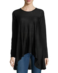 Max Studio Knit Scoop Neck A Line Sweater Black