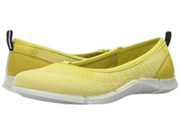 Ecco Intrinsic Karma Flat Sulphur Lemon Neon Sulphur Sulphur Women's Flat Shoes Yellow
