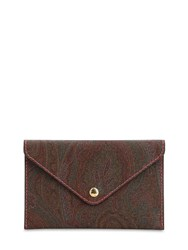 Etro Limited Edition Customized Rsvp Clutch Brown