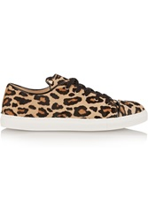 Charlotte Olympia Purrrfect Leopard Print Calf Hair Sneakers