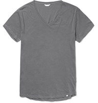 Orlebar Brown Ob V Slim Fit Cotton Jersey T Shirt Gray