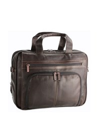 Kenneth Cole Reaction Colombian Leather Expandable 15.4In Computer Portfolio Brown