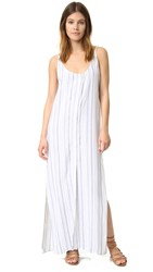 Bella Dahl Button Front Maxi Dress Navy White