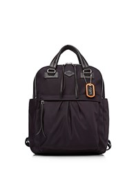 M Z Wallace Mz Bedford Jordan Nylon Backpack Dark Purple Silver