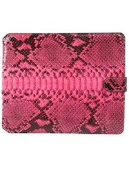 Zagliani Ipad Case Pink And Purple