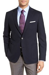 Samuelsohn Men's Big And Tall Classic Fit Stretch Wool Travel Blazer Navy