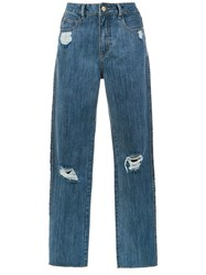 Spacenk Nk Straight Fit Jeans Blue