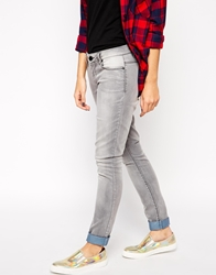 Only Carrie Low Waist Skinny Jeans Mediumgreydenim