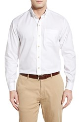 Men's Cutter And Buck 'San Juan' Classic Fit Wrinkle Free Sport Shirt White