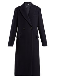 Stella Mccartney Double Breasted Wool Coat Navy