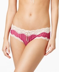 Heidi Klum By Mesh And Lace Striped Hipster H308 1168B Only At Macy's Wild Aster Silver Peony