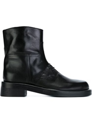 Ann Demeulemeester Chunky Lace Up Ankle Boots Black