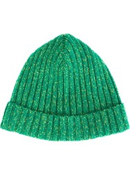 Ymc Ribbed Beanie Green
