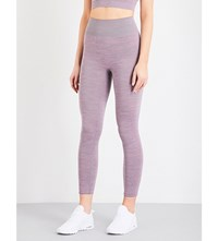 Pepper And Mayne Compression Stretch Jersey Leggings Pink Space Dye