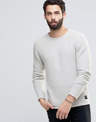 Only And Sons Textured Knitted Jumper Oatmeal Beige