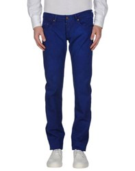 Care Label Trousers Casual Trousers Men Blue