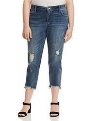 Lucky Brand Plus Reese Cropped Boyfriend Jeans In Beach Drive