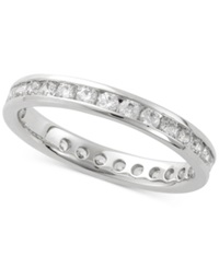 Macy's Diamond Channel Set Eternity Band 1 Ct. T.W. In 14K White Gold