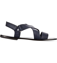 Kurt Geiger Hurb Leather Sandals Navy