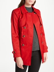 John Lewis Short Trench Coat Bright Red