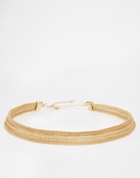 Asos Vintage Style Chain Choker Gold