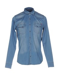X Cape Denim Shirts Blue