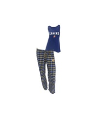Concepts Sport College Concepts Women's Los Angeles Lakers Tank And Pajama Pants Set Purple Gold