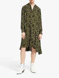 And Or Fifi Marakesh Floral Dress Khaki Black