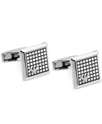 Emporio Armani Stainless Steel Logo Cuff Links Silver