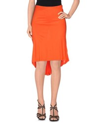 Gai Mattiolo Jeans Skirts Knee Length Skirts Women Orange