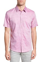 Zachary Prell Wilcox Regular Fit Dobby Sport Shirt Pink