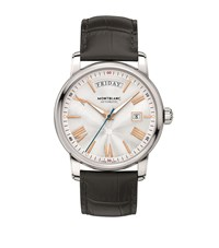Montblanc 4810 Day Date Watch Silver