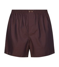 Zimmerli Polka Dot Jacquard Boxer Shorts Male Brown