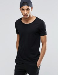Asos T Shirt With Scoop Neck Black