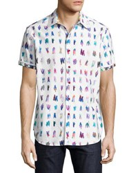 Robert Graham Saline Lakes Short Sleeve Sport Shirt White
