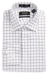 Nordstrom Men's Big And Tall Men's Shop Smartcare Tm Extra Trim Fit Check Dress Shirt Silver Filigree