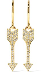 Jennifer Meyer Mini Arrow 18 Karat Gold Diamond Earrings