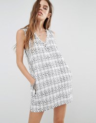 Religion Boucl Pinny Dress In Luxury Check Multi