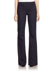 Elie Tahari Flared Flat Front Pants Dark Night