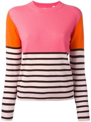 Chinti And Parker Colour Block Jumper Pink Purple