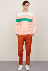 Kenzo Geometrical Rib Knit Sweater Light Pink