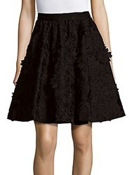 Alice Olivia Earla Floral Lace Embroidered A Line Skirt