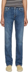 Burberry Blue Straight Jeans