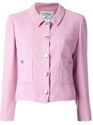 Chanel Vintage Cropped Jacket Pink And Purple
