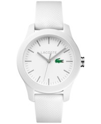 Lacoste Women's 12.12 White Rubber Strap Watch 38Mm 2000954