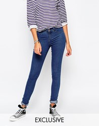 Noisy May Tall Mid Wash Paris Jegging Blue