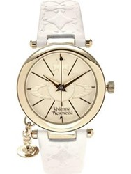 Vivienne Westwood Orb 11 Leather Watch White