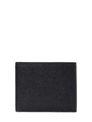 Bally Saffiano Leather Wallet Black Red